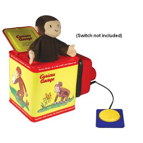 Jack-In-The-Box Switch Toy,Curious George,Each,614