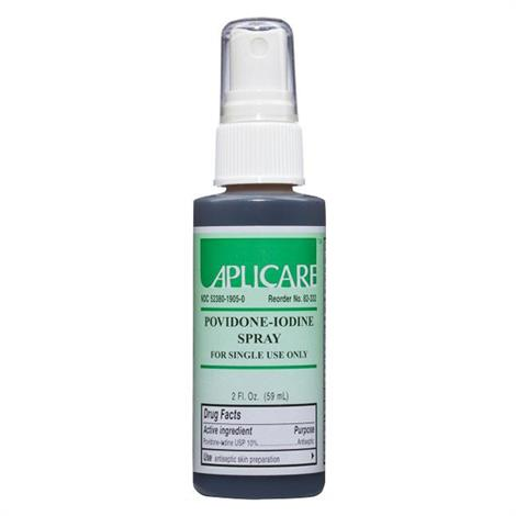 Aplicare Povidone Spray,10% Povidone Spray,2oz,24/Case,82-332