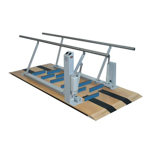 """Hausmann Electric Height And Width Parallel Bars With Mobility Ladder Steps,10"""" L x 17"""" - 33"""" W x 24"""" - 40"""" H,Each,1358"""