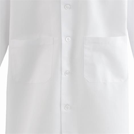 Medline Mens SilverTouch Staff Length Lab Coat,Coat,48,Each,MDT12WHTST48E