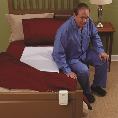 "Patterson Medical Deluxe Alarm Monitor and Sensor Pad Set,Alarm Monitor and 10"" x 30"" Bed Pad,1-Year,Each,81580869"