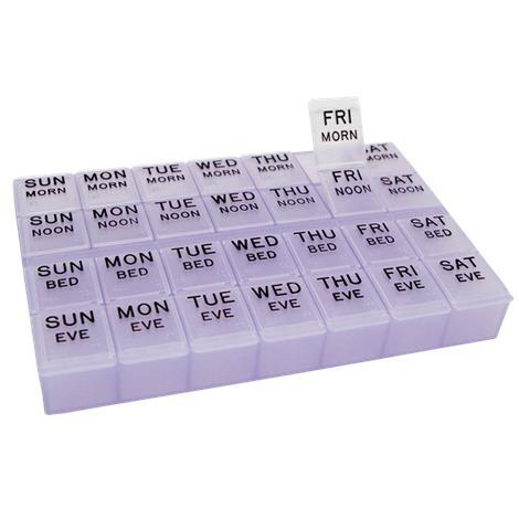 "Apex MediPlanner II Pill Organizer,8.38""W x 5.63""H x 1.18""D,Each,70013"