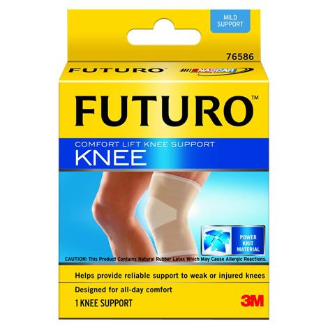 3M Futuro Comfort Lift Knee Support Sleeve,Large,43.2cm to 49.5cm,24/Pack,76588EN