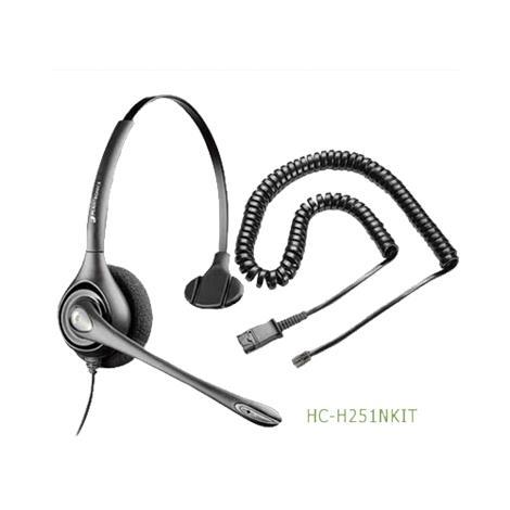Plantronics SupraPlus Noise Canceling Headset,Without RJ9 Adapter,Each,HC-H251N