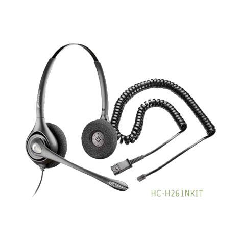 Plantronics SupraPlus Binaural Noise Canceling Headset,Without RJ9 Adapter,Each,HC-H261N