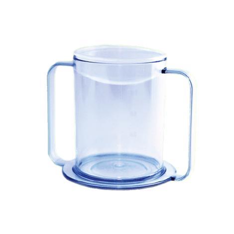 Clear Two Handle Mug,Holds upto 12oz,Each,565960
