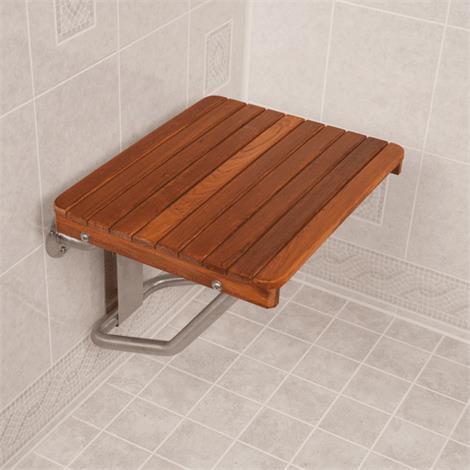 Teakworks4u ADA Compliant Wall Mount Plantation Teak Shower Seat,28