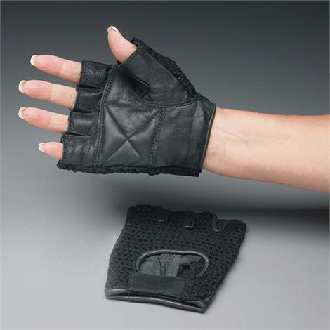 """Mesh Back Padded Gloves,Large,9"""" to 10"""",Pair,NC53890-4"""