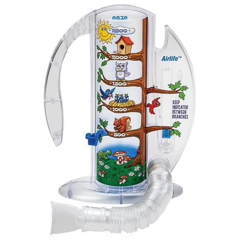 CareFusion AirLife Pediatric Volumetric Incentive Spirometer With One-Way Valve,2500mL,Each,001905A