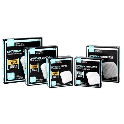 Medline Optifoam Gentle Silicone Face Non Border Dressing,Size 8 x 8,5/Box,MSC2288EPZ