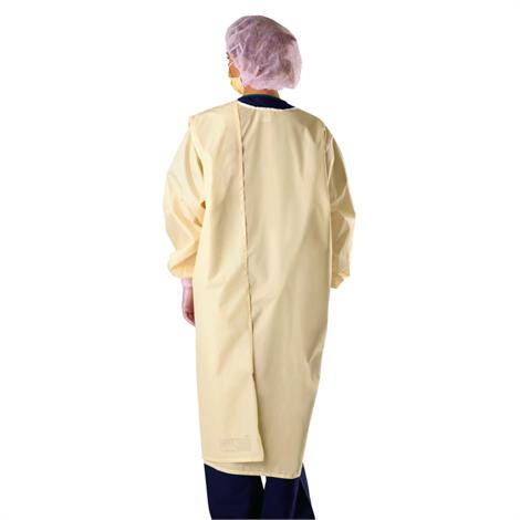 Wrap-Around Reusable Isolation Gown,Grey,Velcro,3X-Large,12/Pack,MDTISO3AHG3XV
