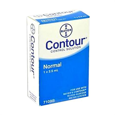 Ascensia Contour Normal Control Solution,Contour,2.5mL Vial,12/Case,7109B