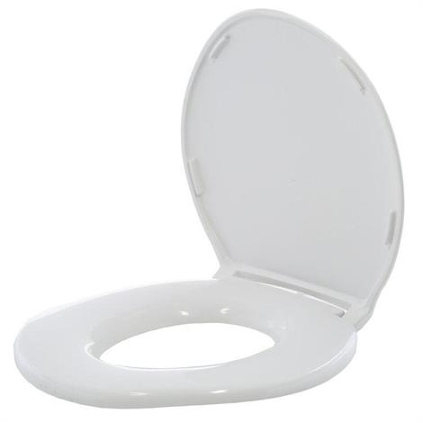 Big John Regular Closed Front Toilet Seat With Cover,Cream,Each,2445646-2CR