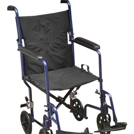 "Lightweight Folding Transport Chair,19""W x 15.5""D x 18.5L,Blue,Each,NC88031-BL"