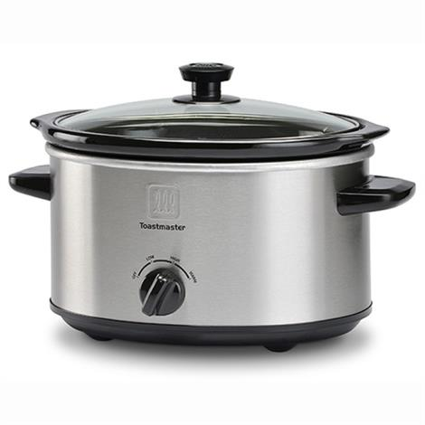 Toastmaster 4 Quart Brushed Stainless Steel Slow Cooker,4Qt Cooker,Each,TM-401SC - from $24.99
