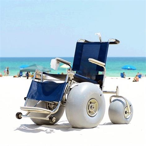 DeBug Stainless Steel All Terrain Beach Wheelchair,0,Each,DEBUGSSATC