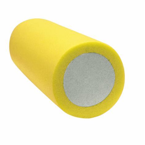 "CanDo 2-Layer Round Foam Roller,6"" x 15"" - Black - X-Firm,Each,30-2399"