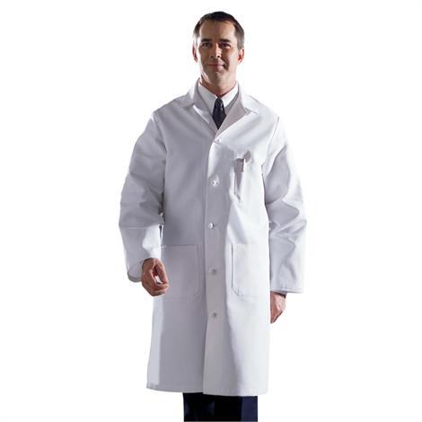 Medline Mens Premium Full Length Cotton Lab Coats,Lab Coat,Size: 56,Each,MDT17WHT56