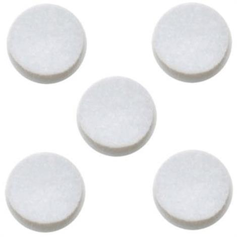 "Omron Replacement Felt Filters For Omron Compressor Nebulizer Systems,1/2"" Diameter Filter,5/Pack,9930"