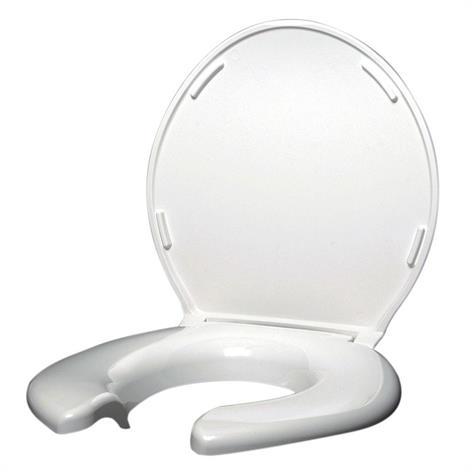 Big John Front Open Toilet Seat,With Cover,Each,2445263-3W