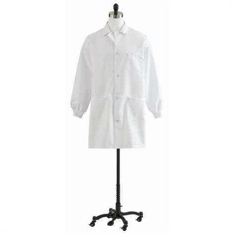 Medline Unisex Knit Cuff Staff Length Lab Coat,Coat,Small,Each,87050QHWS