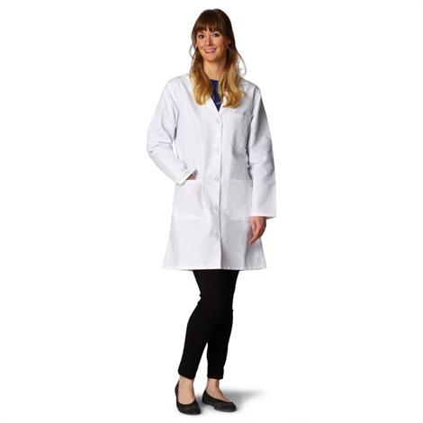 Medline Ladies Classic Staff Length Lab Coat,Size: 10,Each,MDT11WHT10E