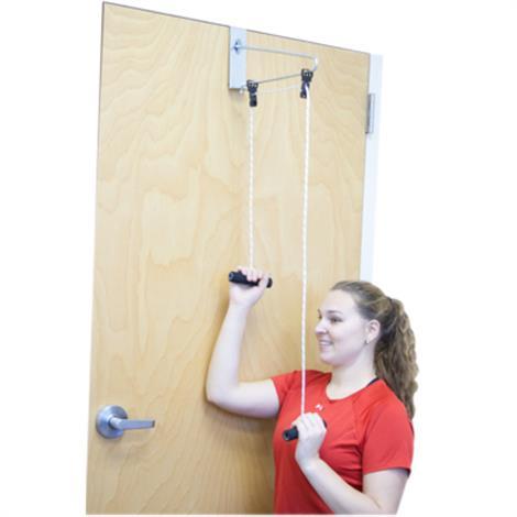 CanDo Overdoor Shoulder Pulley,Double Pulley with Door Bracket,Each,50-1010