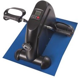 Mabis DMI Mini Exercise Bike Fitness Mini Cycle with Mat