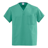 Medline AngelStat Unisex Reversible V-Neck Scrub Tops - Jade