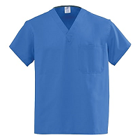 Medline AngelStat Unisex Reversible V-Neck Scrub Tops - Sapphire