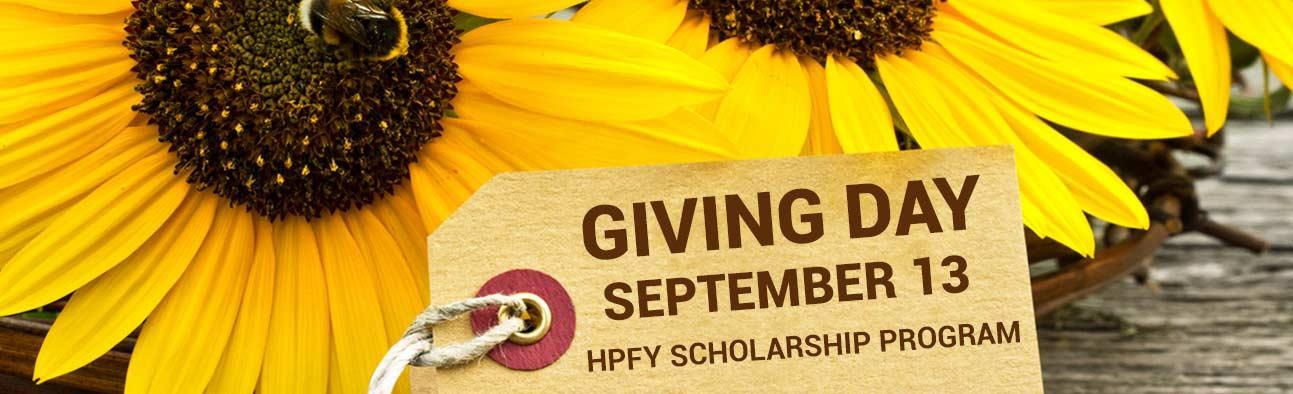 Giving Day - September 13 - HPFY Scholarship Program