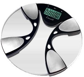Escali Glass Body Fat And Body Water Bathroom Scale
