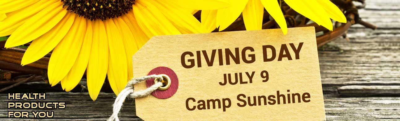 Giving Day - July 9 - Camp Sunshine
