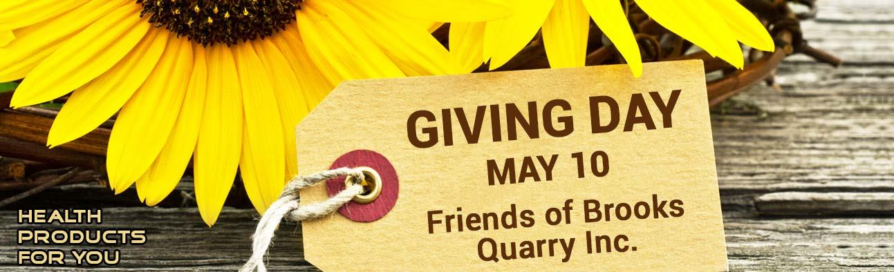 Giving Day - May 10 - Friends of Brooks Quarry