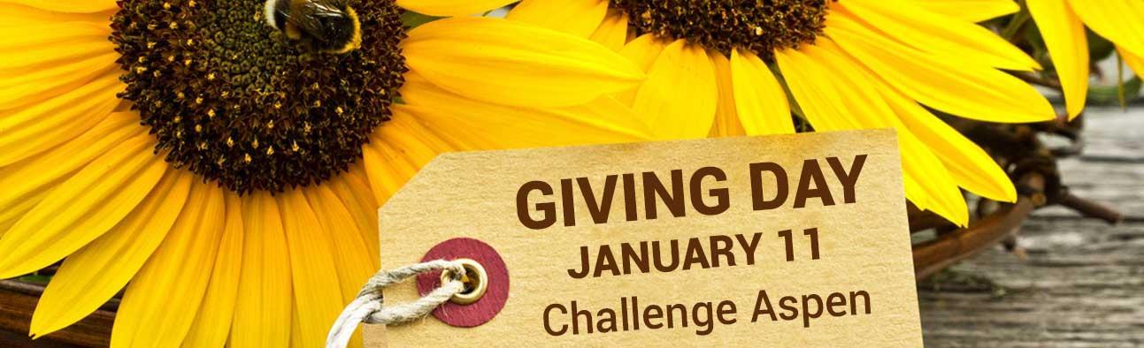 Giving Day - January 11 - Challenge Aspen