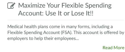 Maximize Your Flexible Spending Account: Use It or Lose It!!