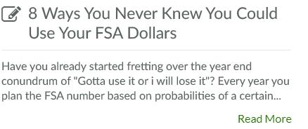 8 Ways You Never Knew You Could Use Your FSA Dollars