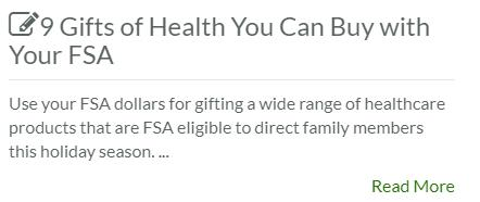 9 Gifts of Health You Can Buy with Your FSA