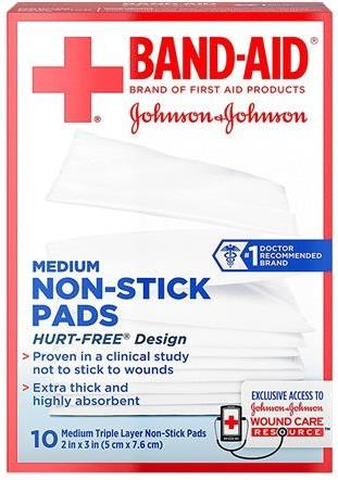 Band-Aid First Aid Nonstick Gauze Pad