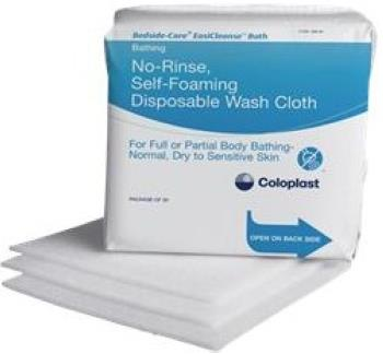 Coloplast Bedside-Care EasiCleanse No-Rinse Self-foaming Disposable Washcloth