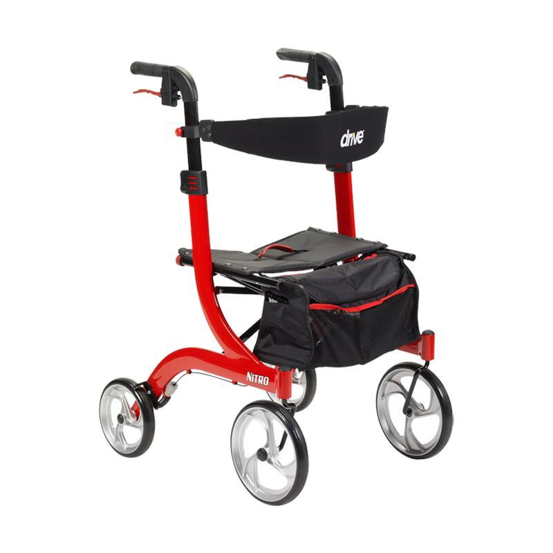 Buy Drive Nitro Euro-Style Tall Aluminum Four Wheel Rollator with Your FSA $