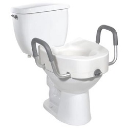 Discount On Drive Premium Plastic Elevated Regular or Elongated Toilet Seat With Lock
