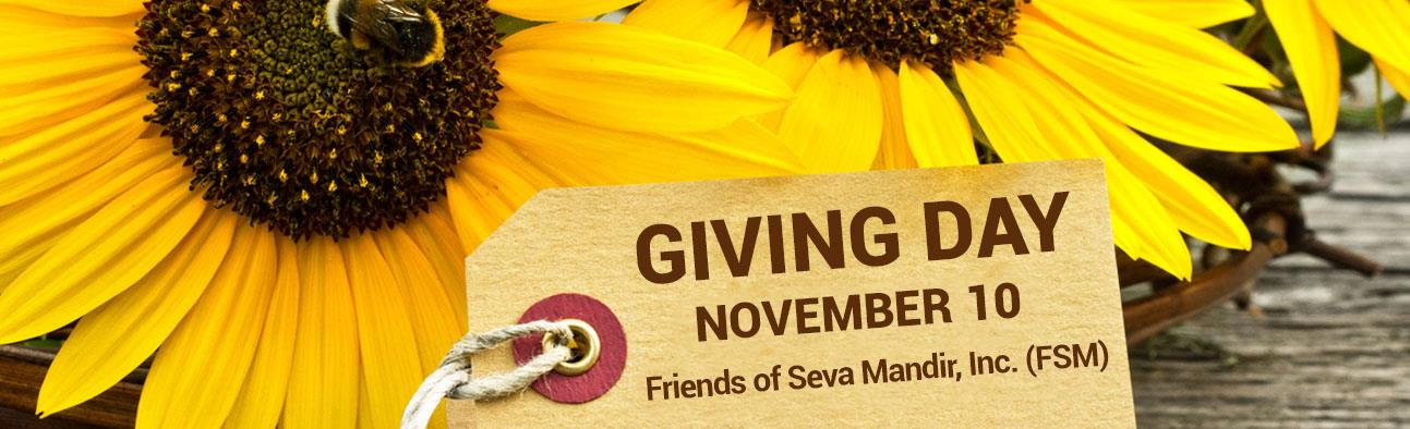 Giving Day - November 10 - Friends of Seva Mandir