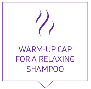 Warm up cap for a relexing Shampoo
