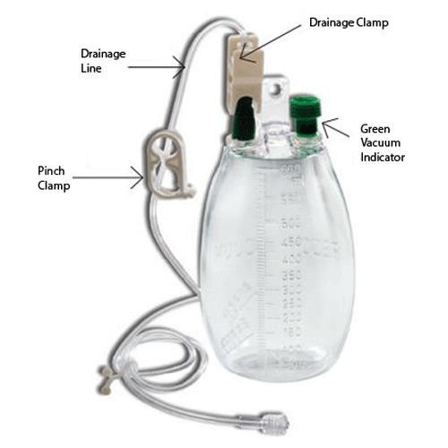 Evacuated Drainage Bottle