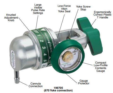 EasyPulse Five Oxygen Conserving Regulator