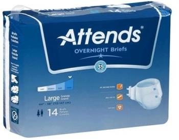 Attends Extended and Overnight Wear Breathable Briefs - Value Pack