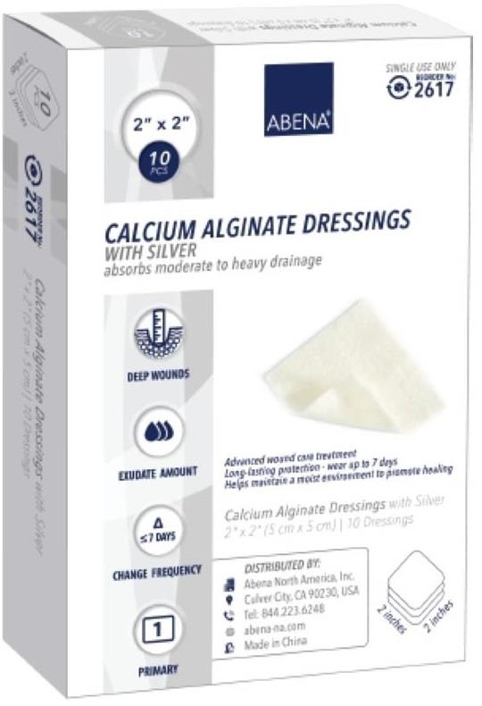 Abena Calcium Alginate Dressing With Silver