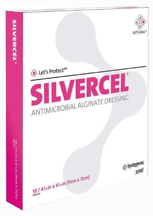 Systagenix Silvercel Antimicrobial Alginate Dressing