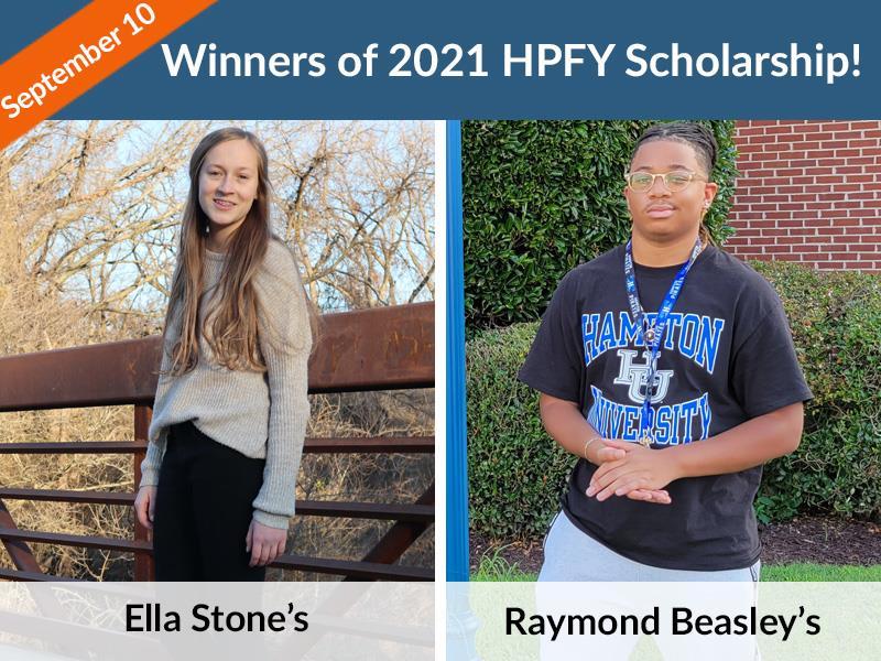 Winners of 2021 HPFY Scholarship
